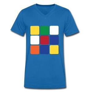 Würfel - Männer Bio-T-Shirt mit V-Ausschnitt von Stanley & Stella
