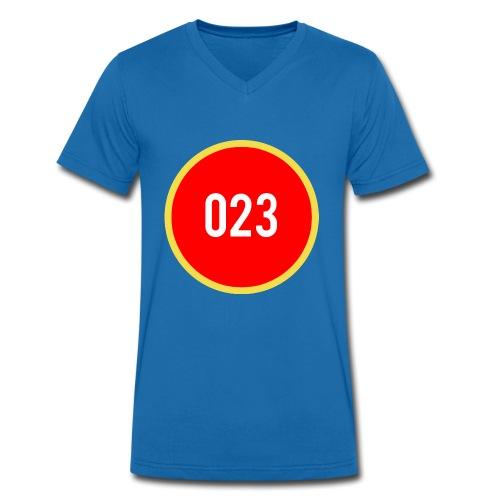 023 logo 2 - Mannen bio T-shirt met V-hals van Stanley & Stella