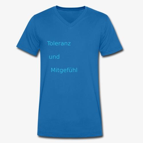 ToleranzUndMitgefuehl - Männer Bio-T-Shirt mit V-Ausschnitt von Stanley & Stella