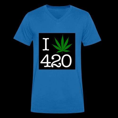 WEED 420 MERCH - Men's Organic V-Neck T-Shirt by Stanley & Stella