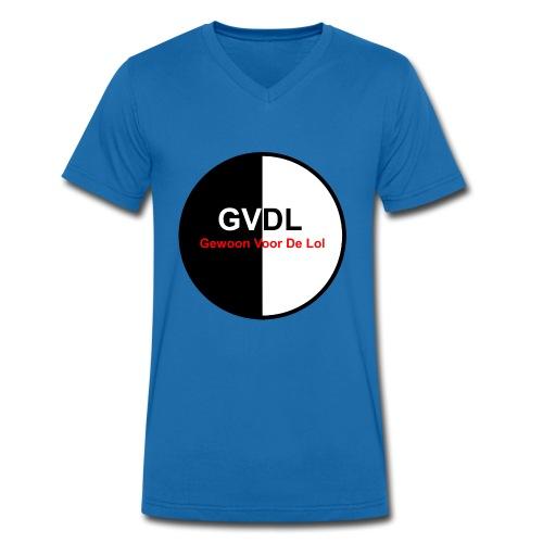 GVDL Logo - Mannen bio T-shirt met V-hals van Stanley & Stella