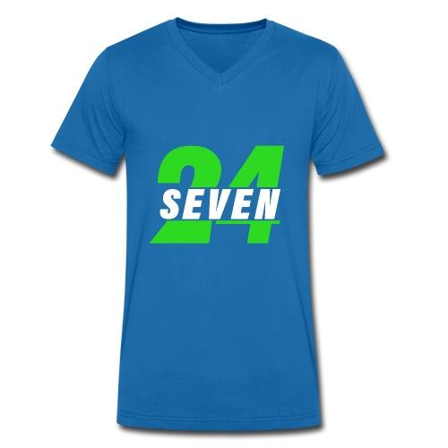 24 seven - Männer Bio-T-Shirt mit V-Ausschnitt von Stanley & Stella