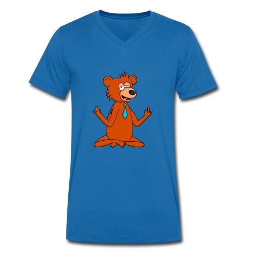 Yoga Bär - Männer Bio-T-Shirt mit V-Ausschnitt von Stanley & Stella