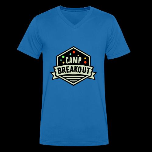 Camp Breakout Logo 2018 - Männer Bio-T-Shirt mit V-Ausschnitt von Stanley & Stella