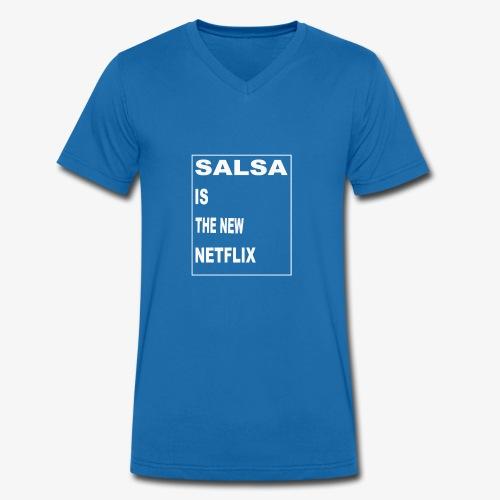 Salsa is the new Netflix - Männer Bio-T-Shirt mit V-Ausschnitt von Stanley & Stella