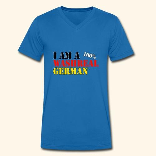I'm a washreal German - ein waschechter Deutscher - Männer Bio-T-Shirt mit V-Ausschnitt von Stanley & Stella