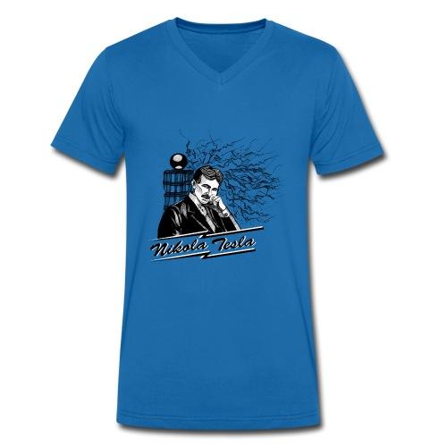 Nikola Tesla - Männer Bio-T-Shirt mit V-Ausschnitt von Stanley & Stella