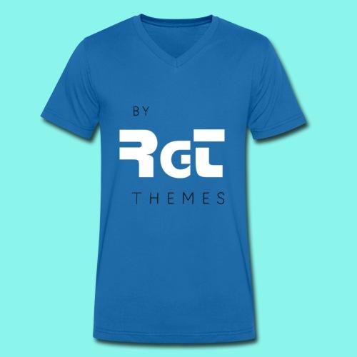 BY RGT THEMES white - Camiseta ecológica hombre con cuello de pico de Stanley & Stella