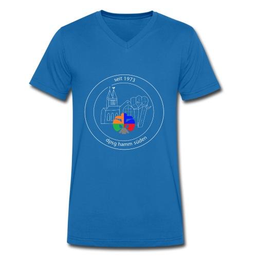 T Shirt Logo weiss trans ohne rand - Männer Bio-T-Shirt mit V-Ausschnitt von Stanley & Stella
