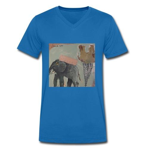 Elefant - Männer Bio-T-Shirt mit V-Ausschnitt von Stanley & Stella
