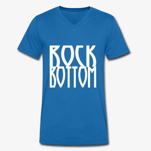 Rock Bottom Logo Large - Økologisk Stanley & Stella T-shirt med V-udskæring til herrer
