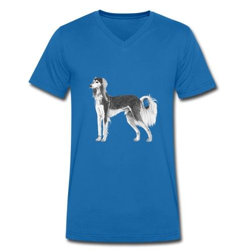 saluki - Økologisk Stanley & Stella T-shirt med V-udskæring til herrer