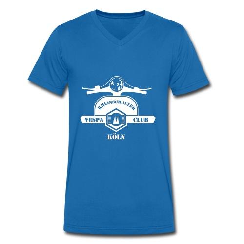 RheinSchalter (gross/weiss) - Männer Bio-T-Shirt mit V-Ausschnitt von Stanley & Stella