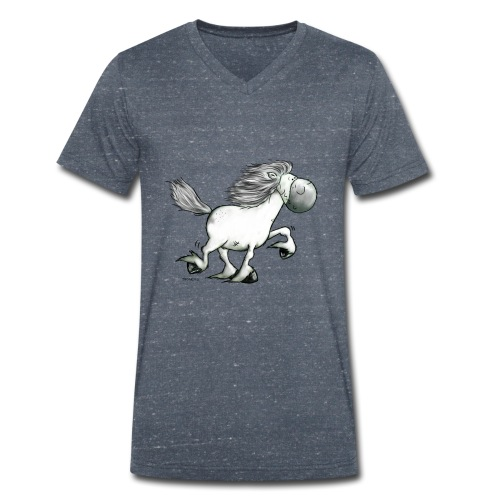 white_horse - Men's Organic V-Neck T-Shirt by Stanley & Stella