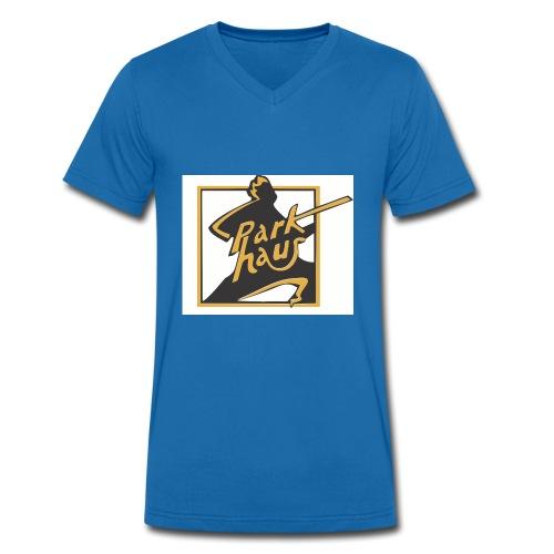neues LogoParkhaus - Männer Bio-T-Shirt mit V-Ausschnitt von Stanley & Stella