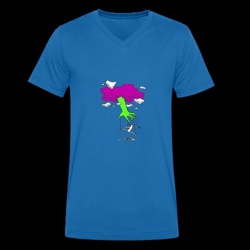 God's Joke - T-shirt ecologica da uomo con scollo a V di Stanley & Stella