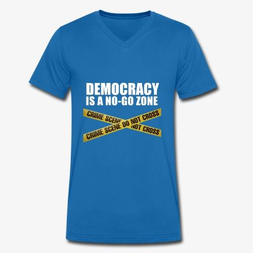 DEMOCRACY IS A NO-GO ZONE - T-shirt bio col V Stanley & Stella Homme