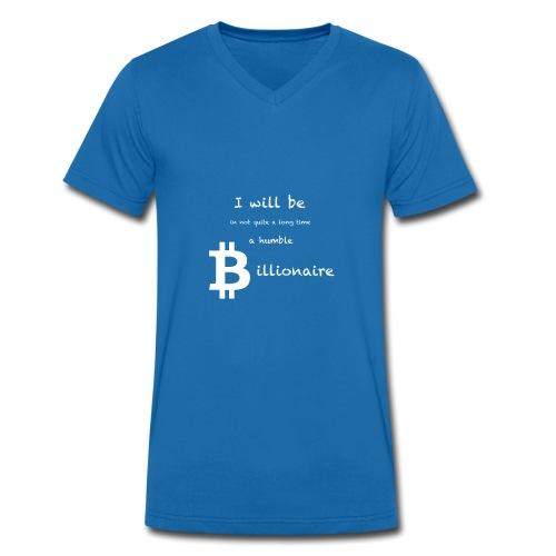 Bittcoin Billionaire - I will be rich - Männer Bio-T-Shirt mit V-Ausschnitt von Stanley & Stella