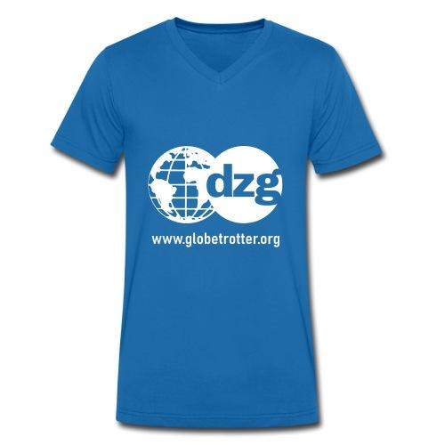 dzg logo Text white - Männer Bio-T-Shirt mit V-Ausschnitt von Stanley & Stella