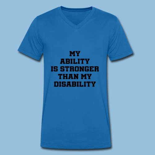 Ability3 - Mannen bio T-shirt met V-hals van Stanley & Stella