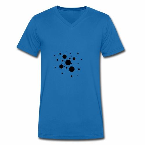 átomos - Camiseta ecológica hombre con cuello de pico de Stanley & Stella