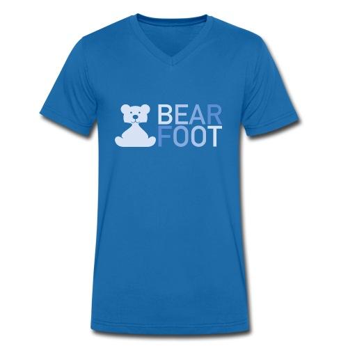 BEAR FOOT fade blue - Männer Bio-T-Shirt mit V-Ausschnitt von Stanley & Stella