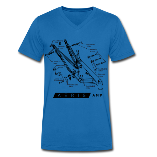 Aeris AM9 Technical Data Tee - Men's Organic V-Neck T-Shirt by Stanley & Stella