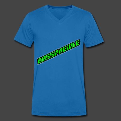 Bassphemie - Neongrün II - Männer Bio-T-Shirt mit V-Ausschnitt von Stanley & Stella