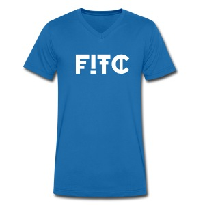 Fire In The City Logo - Men's Organic V-Neck T-Shirt by Stanley & Stella