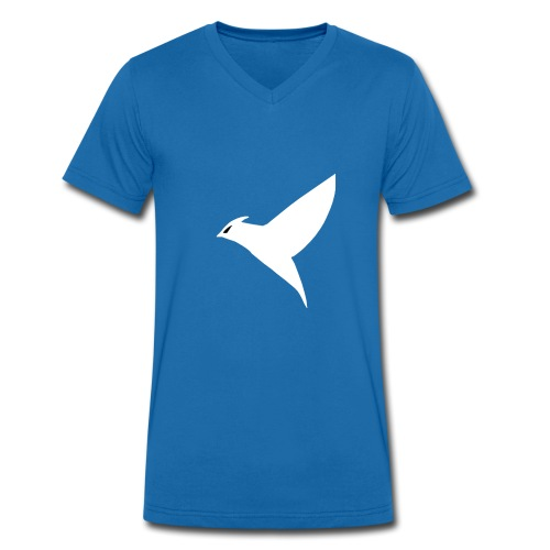 Single Bird - Men's Organic V-Neck T-Shirt by Stanley & Stella