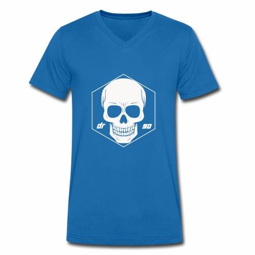 DR SKULL WHITE - Männer Bio-T-Shirt mit V-Ausschnitt von Stanley & Stella