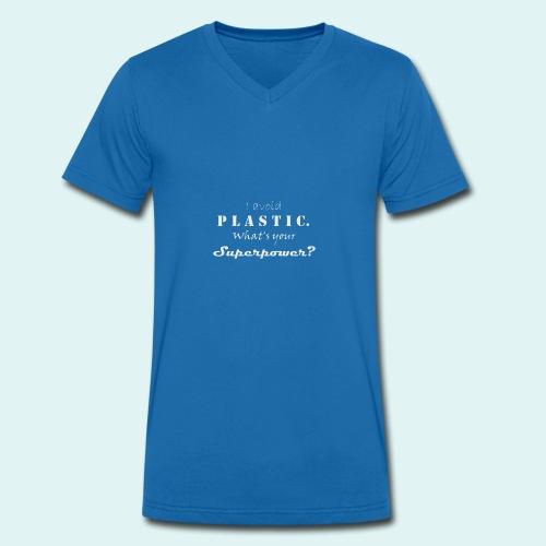 Superpower - Männer Bio-T-Shirt mit V-Ausschnitt von Stanley & Stella