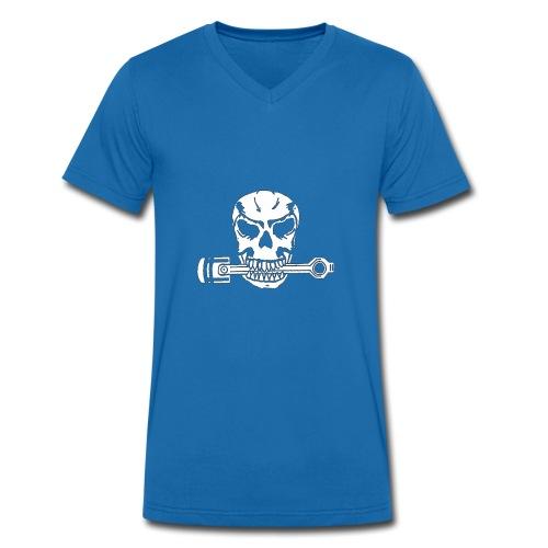 Weiß kolbenfresser - Männer Bio-T-Shirt mit V-Ausschnitt von Stanley & Stella