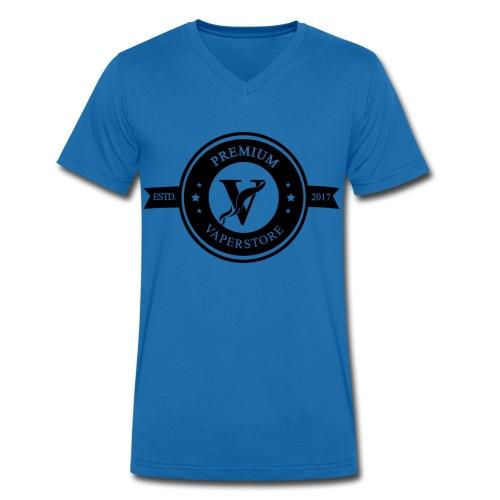 Premium Vaperstore Logo Schwarz - Männer Bio-T-Shirt mit V-Ausschnitt von Stanley & Stella
