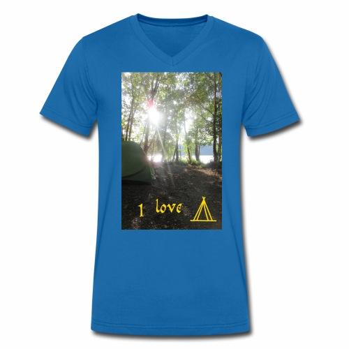camping - Mannen bio T-shirt met V-hals van Stanley & Stella