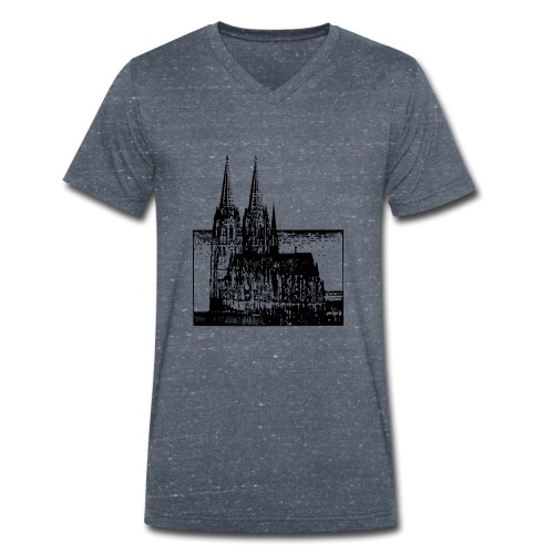 Domstadt - Männer Bio-T-Shirt mit V-Ausschnitt von Stanley & Stella