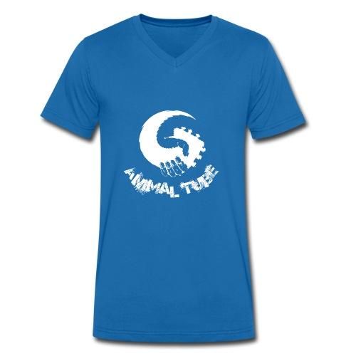 Animal Tube Hand White - Männer Bio-T-Shirt mit V-Ausschnitt von Stanley & Stella