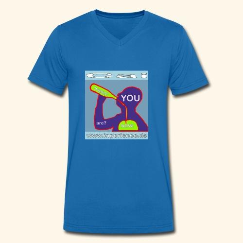 Cai 0001 Are you happy now? - Männer Bio-T-Shirt mit V-Ausschnitt von Stanley & Stella