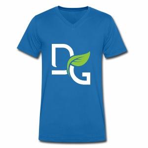 DrGreen Logo Symbol weiss grün - Männer Bio-T-Shirt mit V-Ausschnitt von Stanley & Stella