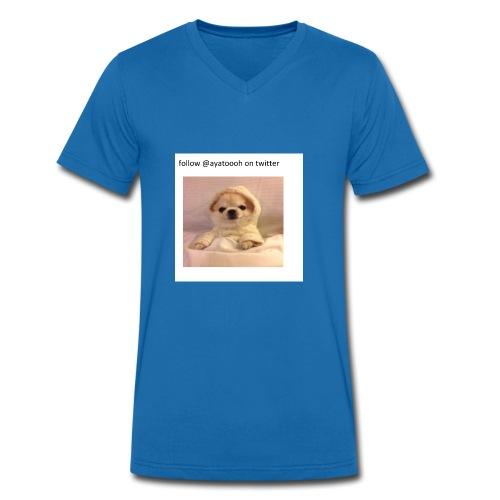 follow ayatooh - Men's Organic V-Neck T-Shirt by Stanley & Stella