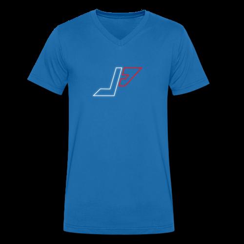 plunjie logo - Men's Organic V-Neck T-Shirt by Stanley & Stella
