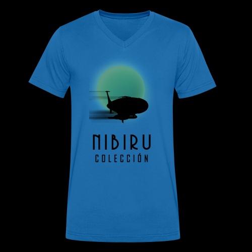 NibiruLogo - Camiseta ecológica hombre con cuello de pico de Stanley & Stella