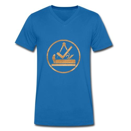 114009430 140746575 TISCHLER LOGO - Männer Bio-T-Shirt mit V-Ausschnitt von Stanley & Stella