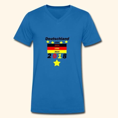 Deutschland 5 Sterne - Männer Bio-T-Shirt mit V-Ausschnitt von Stanley & Stella
