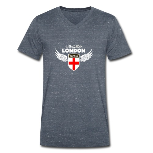 London England - Men's Organic V-Neck T-Shirt by Stanley & Stella