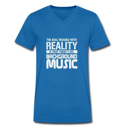 Reality and Music - Men's Organic V-Neck T-Shirt by Stanley & Stella