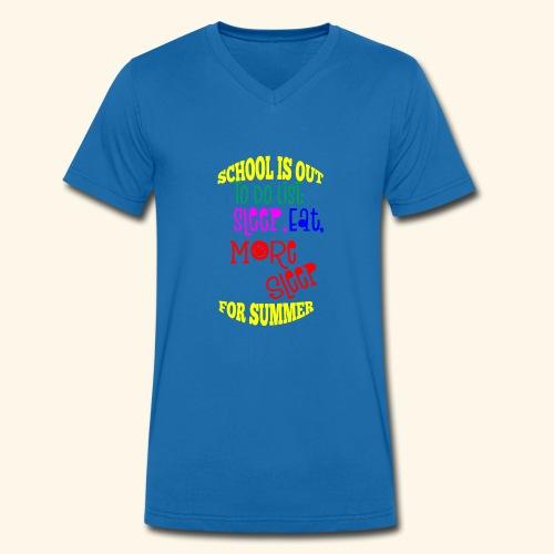 Last day of school - Men's Organic V-Neck T-Shirt by Stanley & Stella