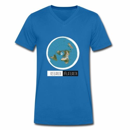 Flache Erde Karte | RESERACH #FLATEARTH - Männer Bio-T-Shirt mit V-Ausschnitt von Stanley & Stella