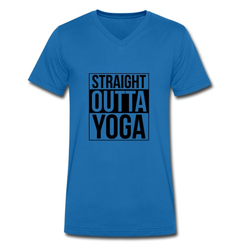 Straight Outta Yoga Design - Men's Organic V-Neck T-Shirt by Stanley & Stella