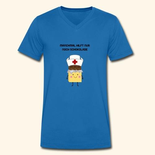 Schokolade - Männer Bio-T-Shirt mit V-Ausschnitt von Stanley & Stella